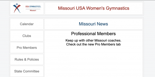 Screenshot of MO USAG site